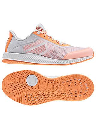 este Simposio Rafflesia Arnoldi  Adidas Gymbreaker Bounce Women's Cross Trainers, White/Orange at John Lewis  & Partners