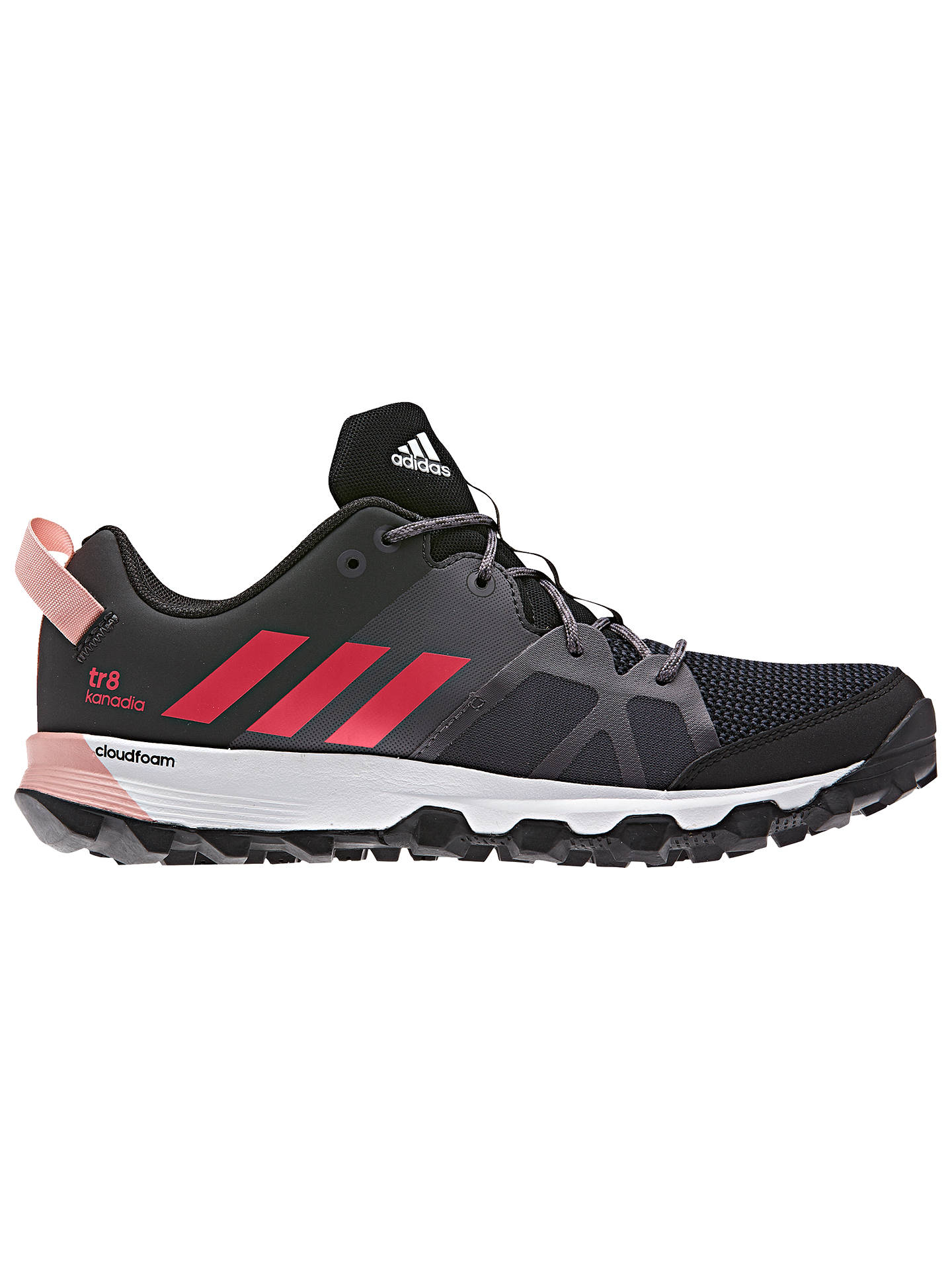 buy popular 4b129 d2712 BuyAdidas Kanadia 8 Trail Women s Running Shoes, Black, 4 Online at  johnlewis. ...