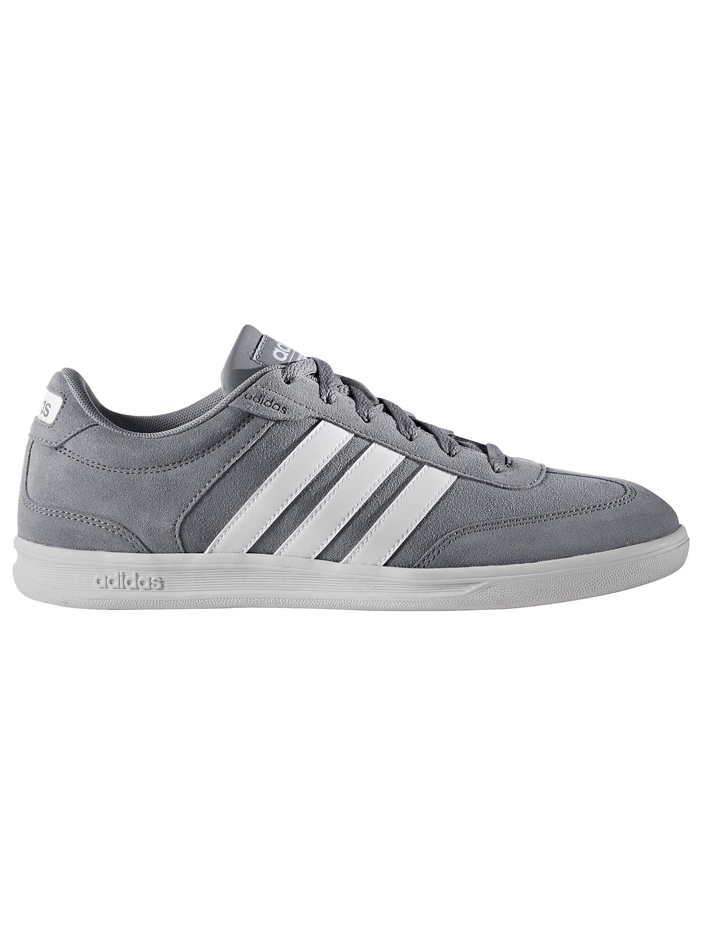 picked up how to buy unique design Adidas Neo Cross Court Men's Trainers, Grey at John Lewis ...