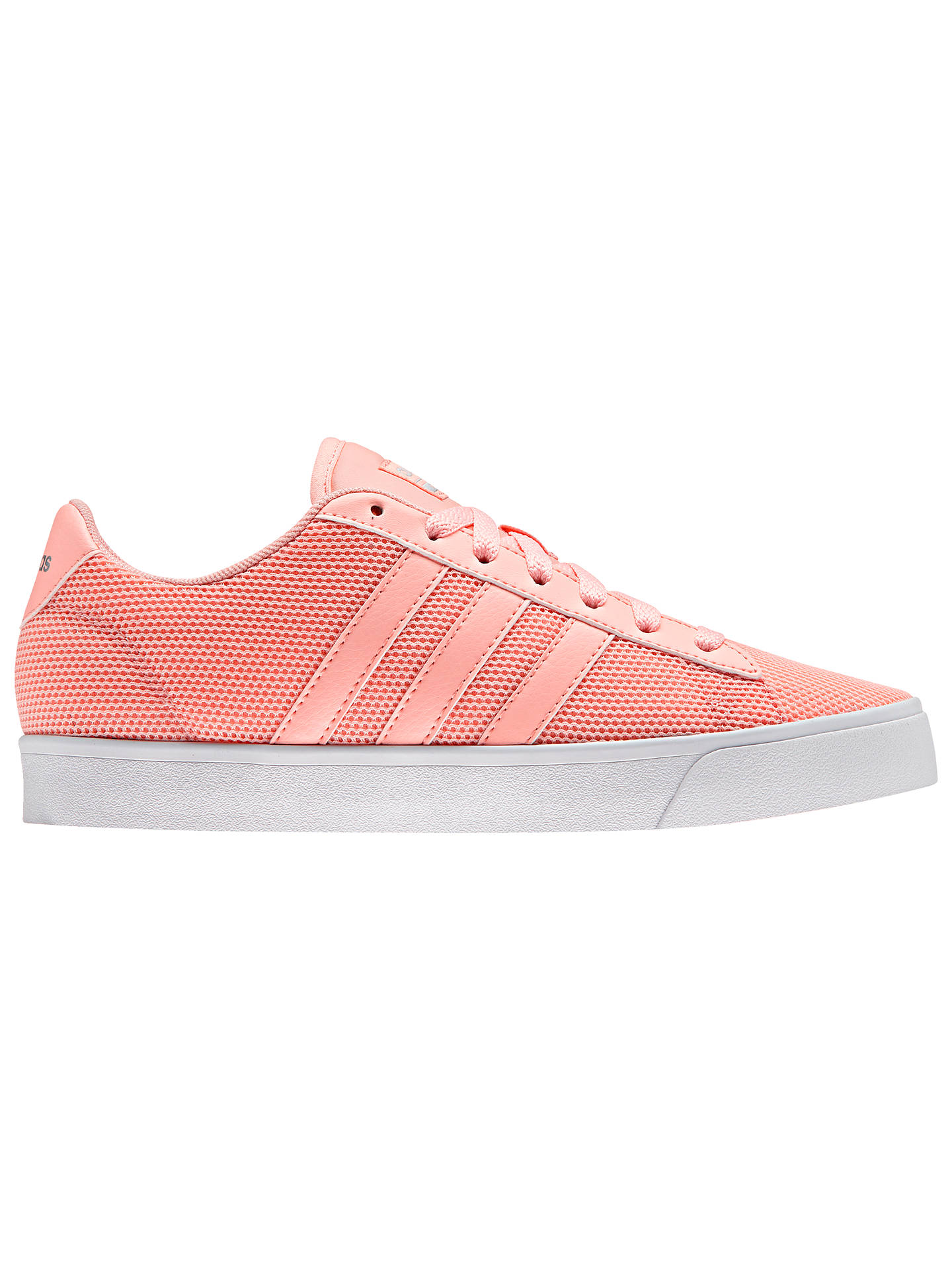 sale retailer 29831 533ab ... italy buyadidas neo cloudfoam daily womens trainers coral 4 online at  johnlewis. dd9de 970ca