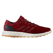 Buy Adidas Pure Boost Men's Running Shoes, Burgundy Online at johnlewis.com