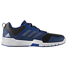 Buy Adidas Essential Star 3 Men's Cross Trainers, Black/Blue Online at johnlewis.com