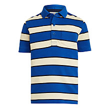 Buy John Lewis Boys' Core Stripe Polo T-Shirt, Blue Online at johnlewis.com