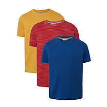 Buy John Lewis Boys' Short Sleeve T-Shirt, Pack of 3, Multi Online at johnlewis.com