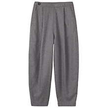Buy Toast Slouchy Flannel Trousers, Mid Grey Online at johnlewis.com