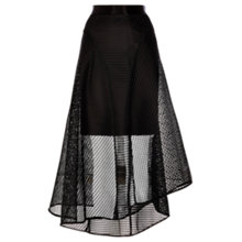 Buy Coast Elin Mesh High Low Skirt, Black Online at johnlewis.com