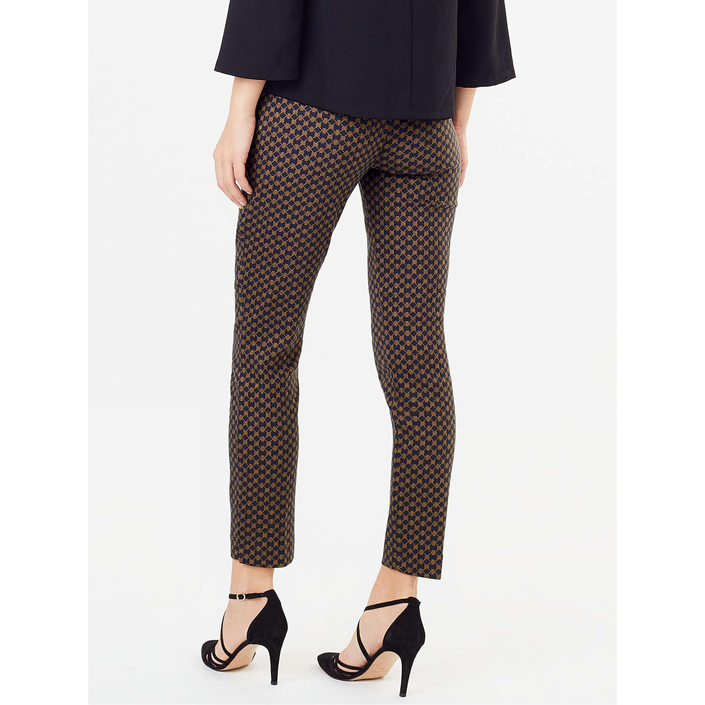 BuyPhase Eight Erica Trellis Jacquard Trousers, Midnight/Tobacco, 8 Online at johnlewis.com