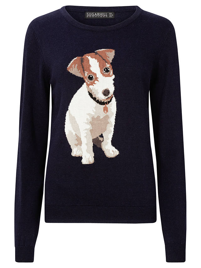 Buy Sugarhill Boutique Bertie Jack Russell Jumper, Navy, 8 Online at johnlewis.com