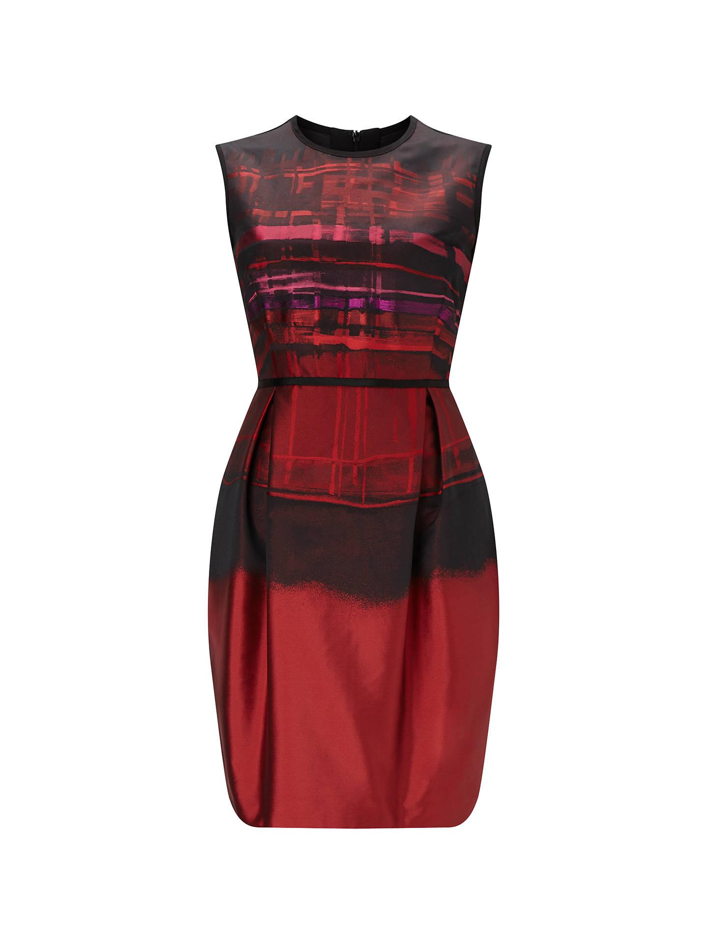 54b8bd26c69d5 Phase Eight Addison Stripe Dress, Claret at John Lewis & Partners