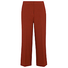 Buy Whistles Dogtooth Wide Cropped Trousers, Multi Online at johnlewis.com