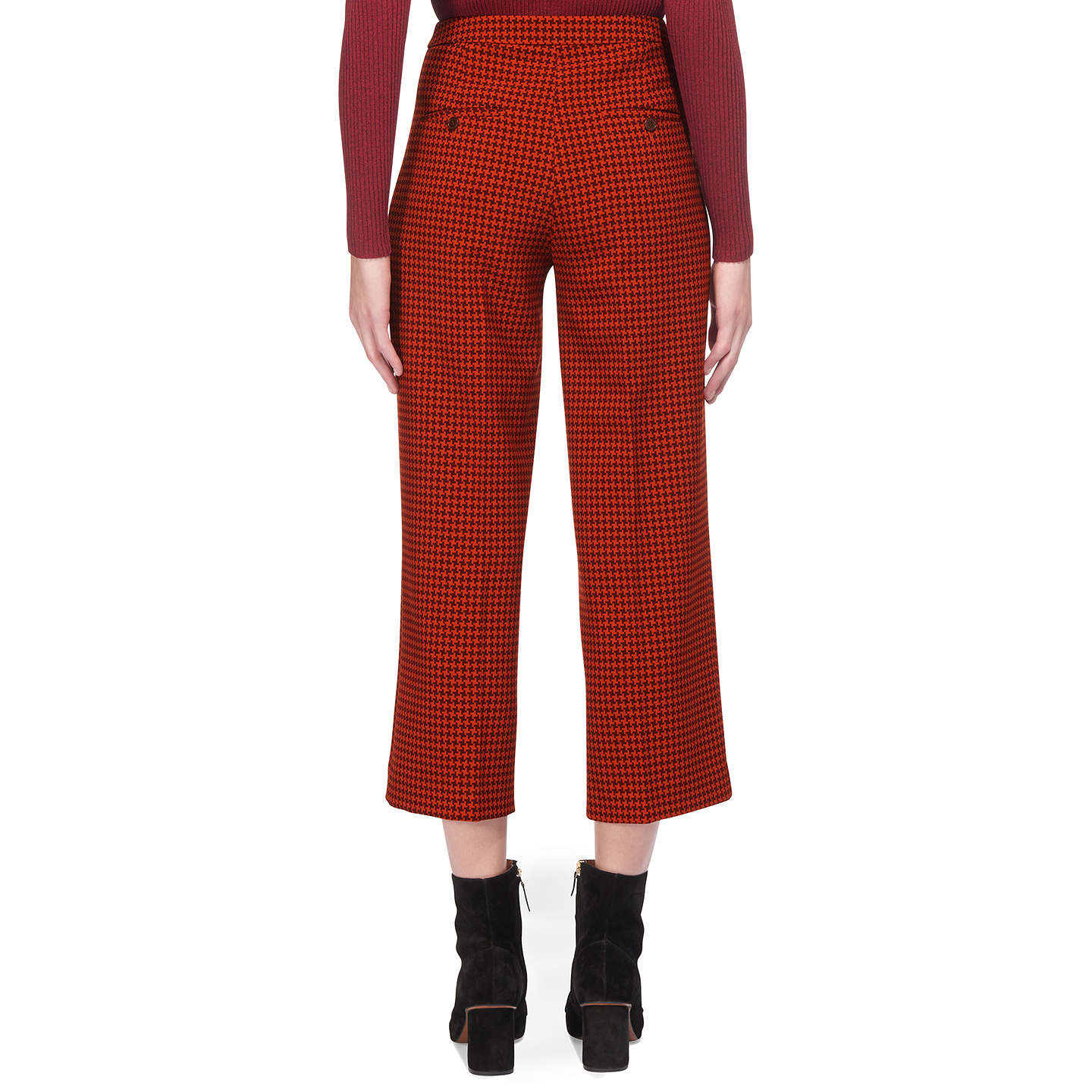 BuyWhistles Dogtooth Wide Cropped Trousers, Multi, 6 Online at johnlewis.com