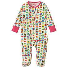 Buy Frugi Organic Baby Floral Sleepsuit, Multi Online at johnlewis.com