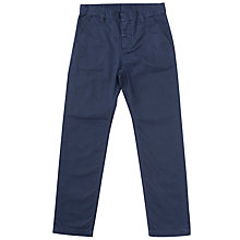 Buy Polarn O. Pyret Boys' Cotton Chinos, Blue Online at johnlewis.com