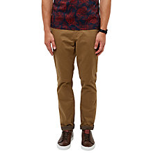 Buy Ted Baker Canny Regular Fit Chinos, Dark Tan Online at johnlewis.com