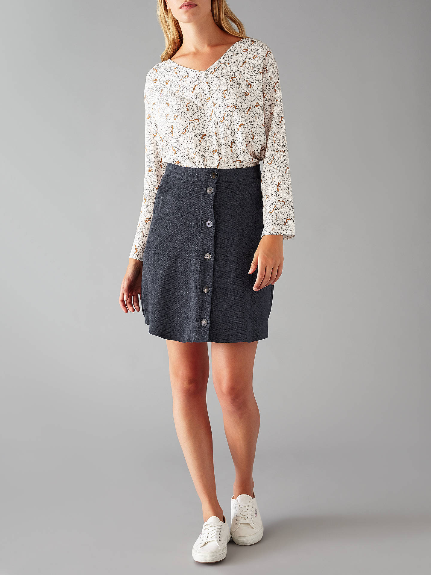 Harris Wilson Viveka Skirt, Marine at John Lewis & Partners