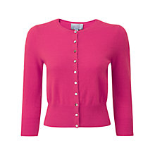 Buy Pure Collection Maida Cashmere Crop Cardigan, Cerise Online at johnlewis.com