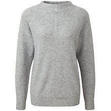Buy Pure Collection Fernbrook Slouch Sleeve Jumper, Heather Grey Online at johnlewis.com