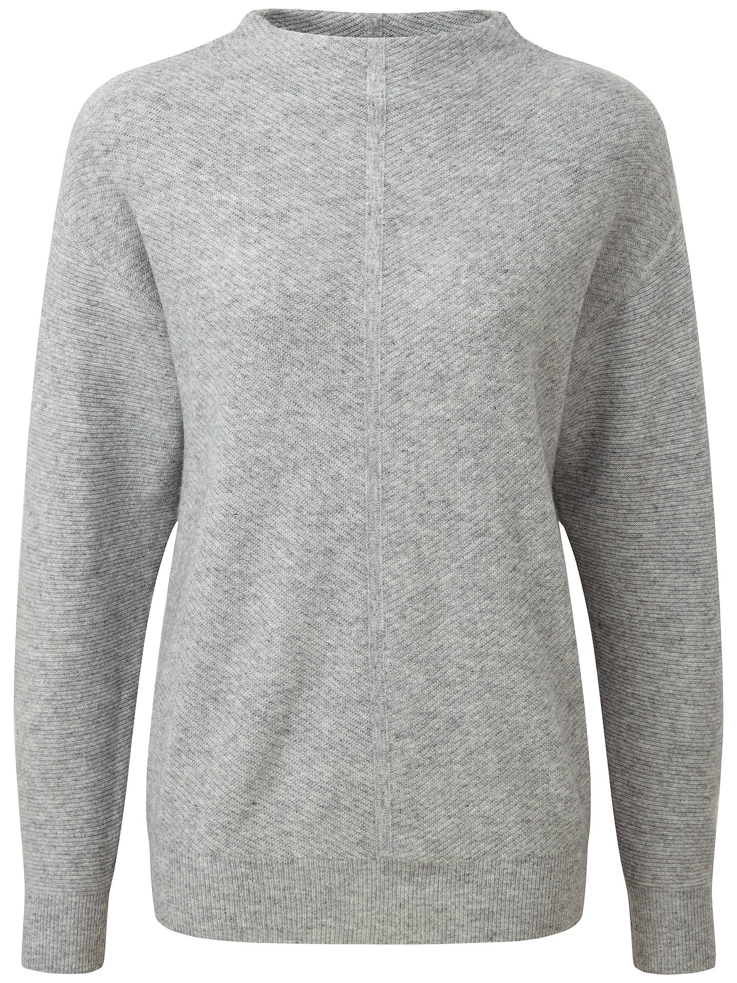 BuyPure Collection Fernbrook Slouch Sleeve Jumper, Heather Grey, 8 Online at johnlewis.com