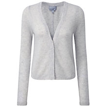 Buy Pure Collection Tess Gassato Cashmere Cardigan, Iced Grey Online at johnlewis.com