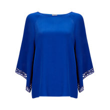 Buy Phase Eight Hena Crochet Top, Cobalt Online at johnlewis.com