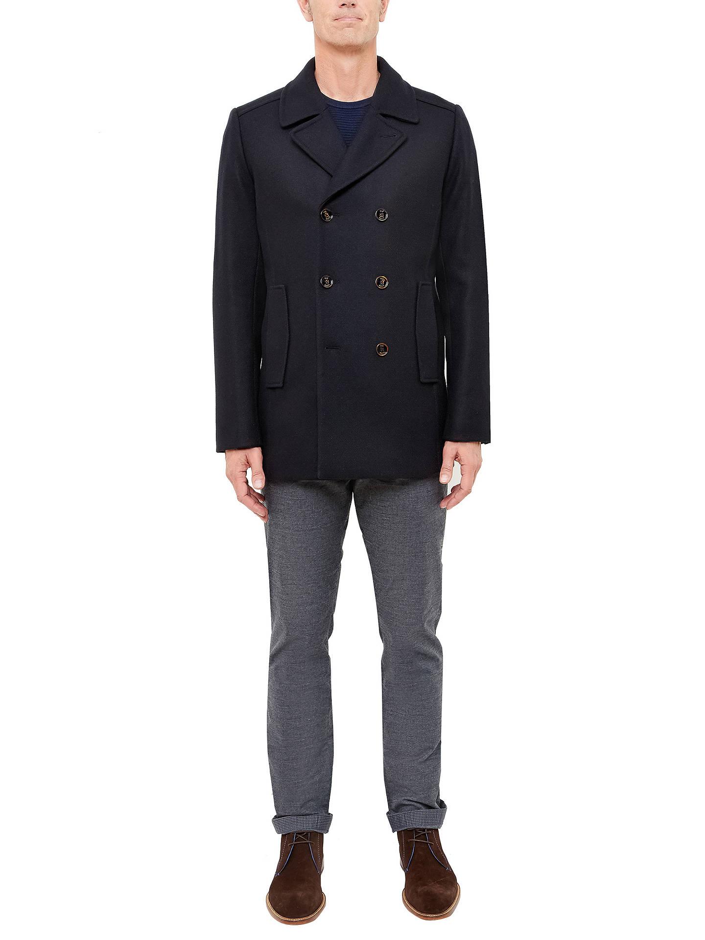 5b30b992cacff ... Buy Ted Baker T for Tall Bizatt Wool-Blend Peacoat