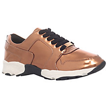 Buy Carvela Lacrosse Lace Up Trainers, Bronze Online at johnlewis.com