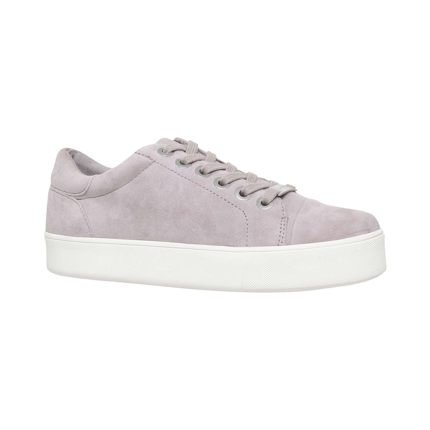 BuyCarvela Loot Lace Up Trainers, Grey Suede, 3 Online at johnlewis.com ...