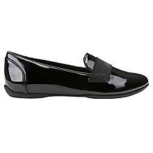 Buy Geox Charlene Flat Slip On Pumps, Black Synthetic Patent Online at johnlewis.com