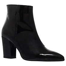 Buy Carvela Sarah Ankle Boots, Black Patent Online at johnlewis.com