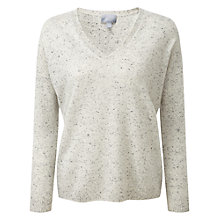 Buy Pure Collection Fernanda Cashmere Jumper, Heather Grey Fleck Online at johnlewis.com