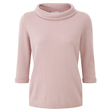 Buy Pure Collection Reid Cashmere Bardot Jumper, Oyster Online at johnlewis.com