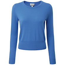 Buy Pure Collection Airedale Cashmere Crop Jumper, Nordic Blue Online at johnlewis.com