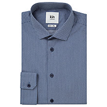 Buy Kin by John Lewis Point Print Shirt, Navy Online at johnlewis.com