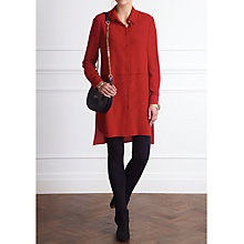 Buy Pure Collection Layla Silk Tunic, Burnt Russett Online at johnlewis.com