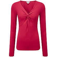 Buy Pure Collection Finsbury Knot Top, Redcurrant Online at johnlewis.com