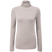 Buy Pure Collection Delilah Roll Neck Top, Pearl Grey Online at johnlewis.com