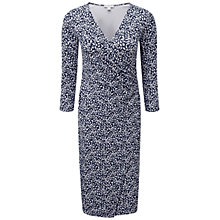Buy Pure Collection Carissa Heavy Jersey Wrap Dress, Navy Animal Print Online at johnlewis.com