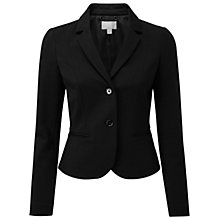 Buy Pure Collection Riley Cropped Ponte Jacket, Black Online at johnlewis.com