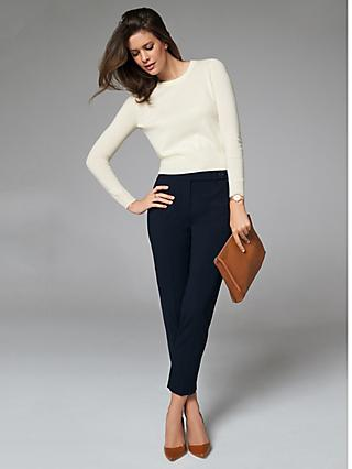 Pure Collection Tailored Ankle Length Trousers