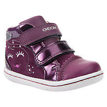 Buy Geox Children's B Flick Double Riptape Shoes, Purple Online at johnlewis.com