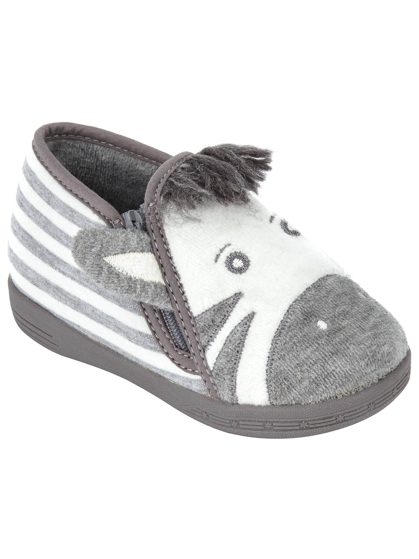 7eca892d3 Buy John Lewis   Partners Baby Zebra Slippers