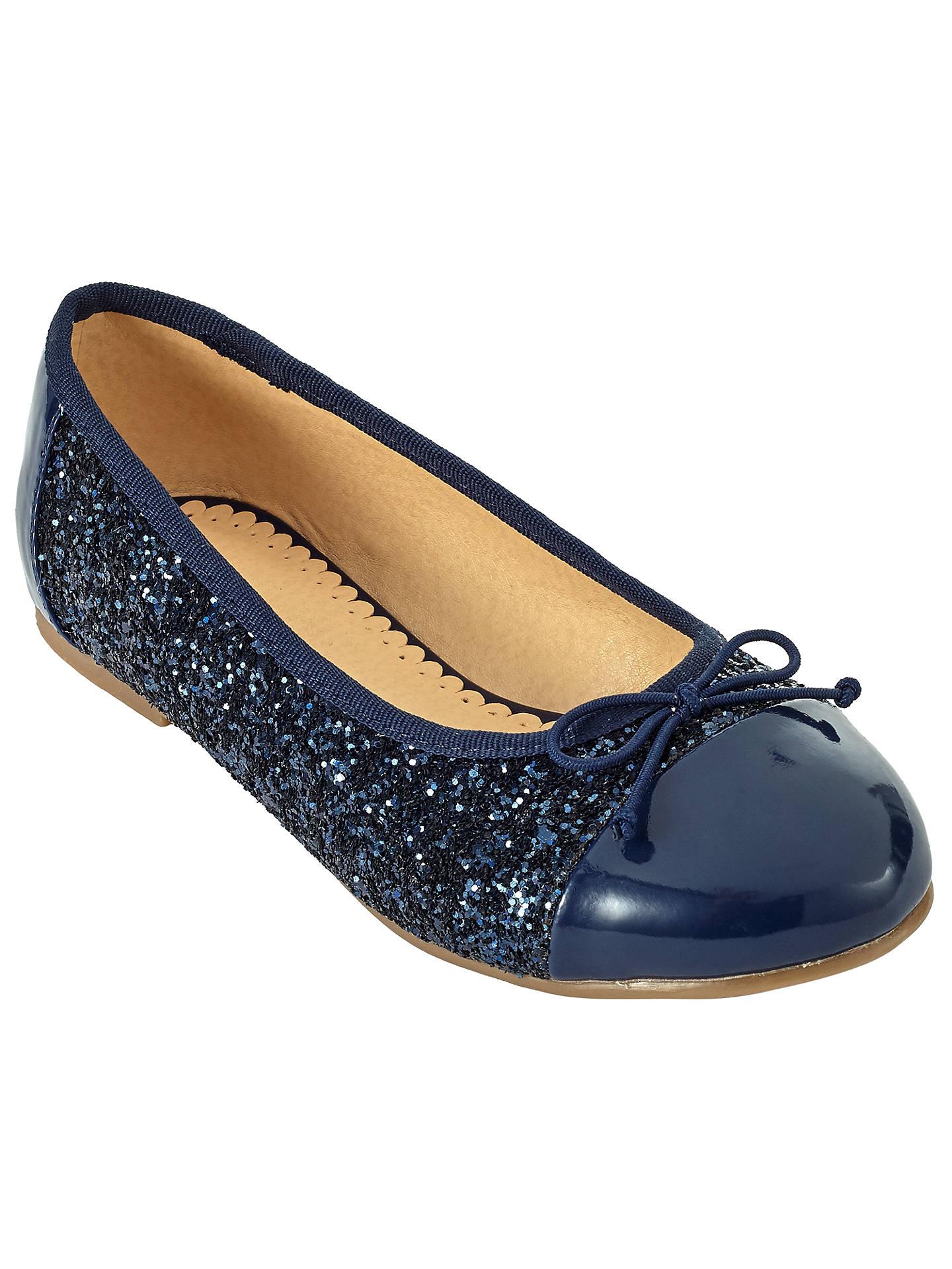 db1978dc Buy John Lewis Children's Ballerina Toe Cap Glitter Pumps, Navy, 10 Jnr  Online at ...