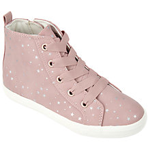 Buy John Lewis Children's Jessie Star Hi Top Trainers, Pink Online at johnlewis.com