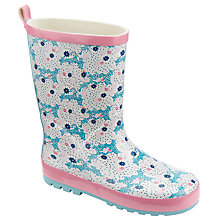 Buy John Lewis Children's Floral Wellington Boots, Pink Online at johnlewis.com