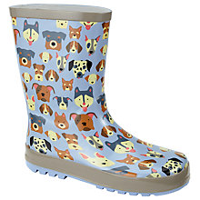 Buy John Lewis Children's Dog Wellington Boots, Blue Online at johnlewis.com
