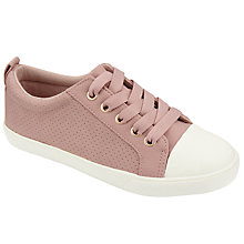 Buy John Lewis Children's Paige Pin Dot Shoes, Pink Online at johnlewis.com