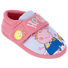 Buy Peppa Pig Children's Rainbow Slippers, Pink Online at johnlewis.com
