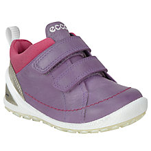 Buy ECCO Children's Boim Lite Rip-Tape Trainers, Grape Online at johnlewis.com