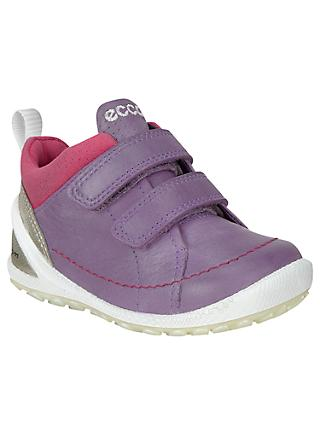 ECCO Children's Boim Lite Riptape Trainers, Grape