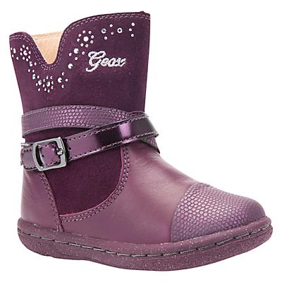 Geox Children's B Flick Suede Boots, Purple